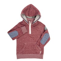 Sweat hoody enfant Lie de vin/rose léger - Horseware