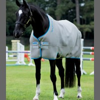 "Chemise Rambo ""Airmax Cooler"" - Gris/turquoise/bleu roi - Horseware"