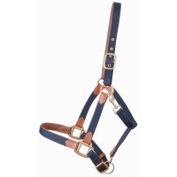 TDET - Licol sangle et cuir Navy